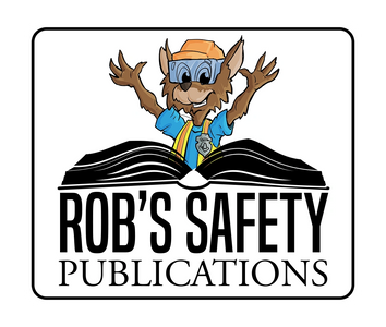 Rob's Safety Publications logo with Risky Roo in safety gear and an open book.
