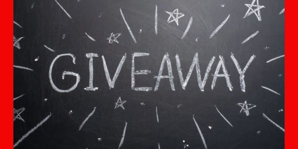 image that says Giveaway on a chalkboard