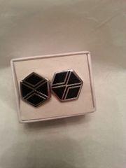 Cufflinks Black & Silver Octogon