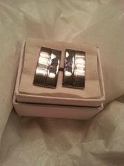 Cufflinks Rectangle Silver