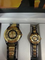 "His & Hers Watch Set ""Gold/Black/Silver"""