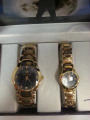 "His & Hers Watch Set ""Gold Smokey Black"""