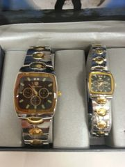 "His & Hers Watch Set ""Gold Silver Black"""