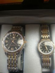 "His & Hers Watch Set ""Silver Gold Black White"""