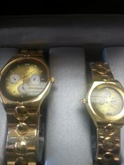 "His & Hers Watch Set ""Gold Overlay"""