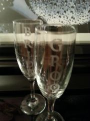 Wedding Toasting Glasses Bride & Groom