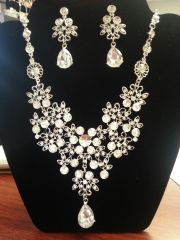 Wedding Necklace Set Cluster