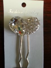 Wedding Hair Pin Heart