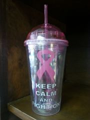 Breast Cancer Awareness Keep Calm and Fight On Tumbler