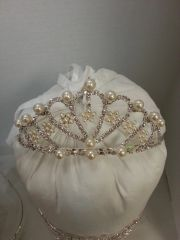 Wedding Tiara Multi Teardrop with Pearls