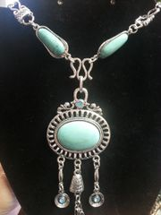 Jewelry Necklace Turquoise Triple Drop