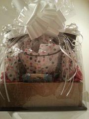 Gift Basket Crystal Ice Bucket with Shot Glasses