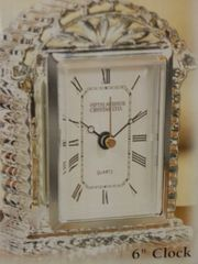 "Wedding Crystal 6"" Clock"