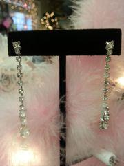 "Wedding Earrings Rhinestone Drop 2"""