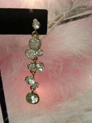 Wedding Earring Gold Crystal
