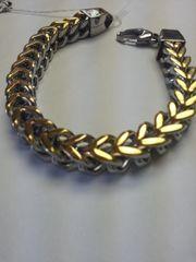Bracelet Box Weave Chain Link Stainless Steel Bracelet