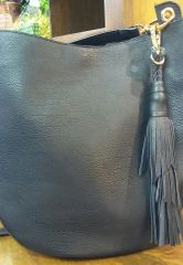 Handbag Black Hobo with Removable Pouch