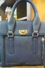 Handbag Navy Structured Satchel
