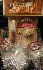 Gift Basket Glasses and Cheese