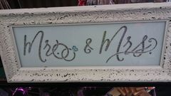Wedding Mr and Mrs Framed Picture