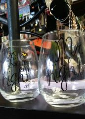 Wedding Stemless Wine Glasses