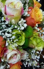 Wedding Bouquet Multi Color Rose