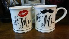Wedding His and Hers Coffee Mugs