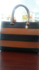 Handbag Two Tone Satchel
