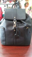 Handbag Black Backpack with Lobster Clasp