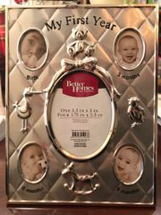Silver My First Year 5 Photo Picture Frame