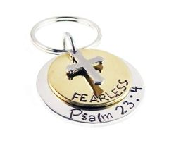 EB Fearless Scripture Keychain
