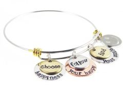 EB Stainless Steel Mixed Metal Choose Happy