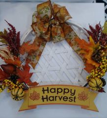 Tobacco Basket Wreath Happy Harvest