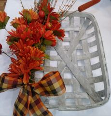 Tobacco Basket Wreath Orange Harvest