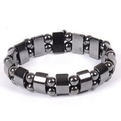 Black Magnetic Hematite Stone Therapy Bracelet