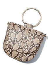 Handbag Snake Crossbody with Gold Handle