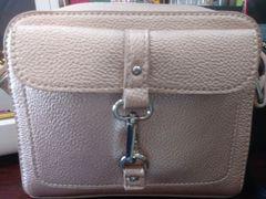 Handbag Rose Gold Buckled Crossbody