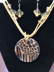 Jewelry Set Caribbean Shell Collection Leopard Taupe