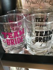 Wedding Team Bride or Team Groom Shot Glass