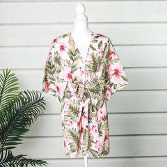 Summer Cover Tropical Floral Kimono