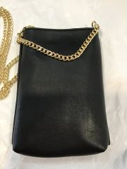 Handbag Chain Strap Phone Case Black
