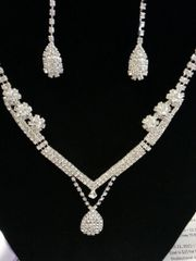 Wedding Necklace Set Diamonique
