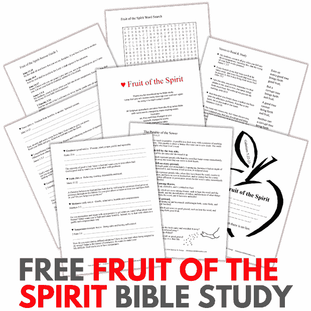 Free Printable PDF Bible Study Lesson for Kids and Teens
