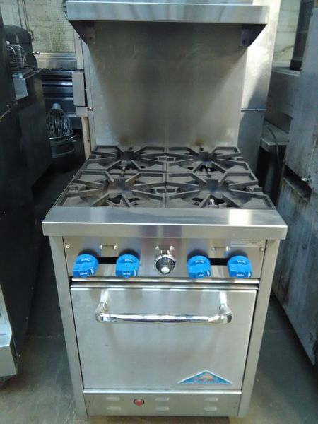 Used Comstock Castle 24 Commercial Gas Range 4 Burners Std Oven