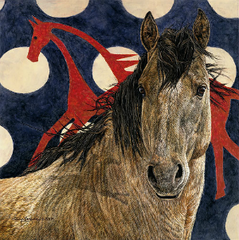 """""""The Horse Tipi"""" - S/N Limited Edition Print on Canvas 11 x 11"""