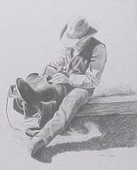 """Saddle Soap"" - 11 x 14 Print from Original Pencil"
