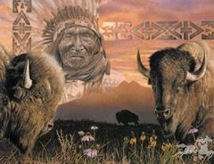 """Keeper of the Plains"" - 19x24.5 by David C Berhens"