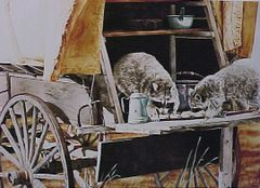 """""""Biscuits and Gravy"""" - 19x13.5 by Judith Angell Meyer"""