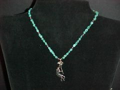 10K White Gold & Turquoise Necklace
