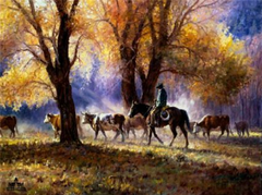 """Autumn Gather"" - 22 x 28 Limited Edition Print"